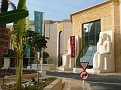 Entrance of Wafi city mall which is  egyptian themed architecture.