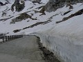 IM000491 Snow at the roadside on the Italian (south) side of the Grand St Bernard