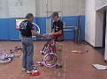 1058 helps with bike assembly