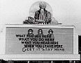 5 - A billboard posted in Oak Ridge, Tennessee, on December 31, 1943. (Ed Westcott/DOE)