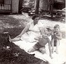 "Edna Marie (ANDERSON) Foust (1904-1970), wife of Parlon D. ""Frosty"" Foust (1903-1947), who was killed in the coal mine accident at Dean, Scott County, TN.  1st boy unknown. 2nd boy is her grandson, Ray Pergram."