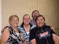 L TO R LOIS (CRABTREE) YOUNG  MY WIFE NANCY (VOILS) CRABTREE  JANICE (CRABTREE) DAY  & ME