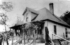 The Vann House, located next to the Antioch Baptist Church in Montgomery, Scott County, TN.
