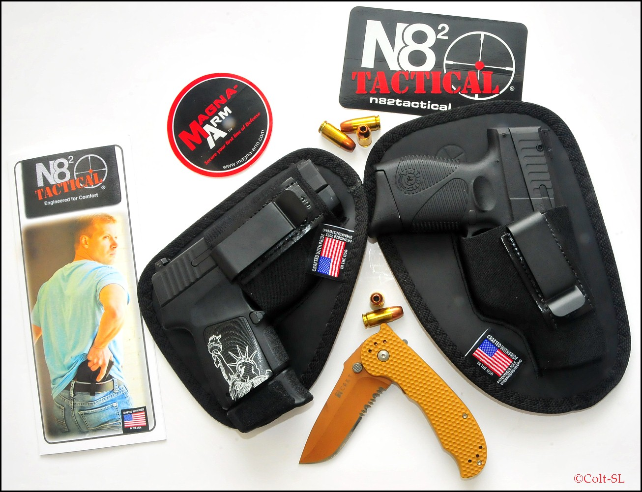 N82 tactical comfortable secure affordable iwb holster for Pro carry shirt tuck