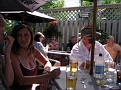 On the patio at Rob Roy's, Smiths Falls
