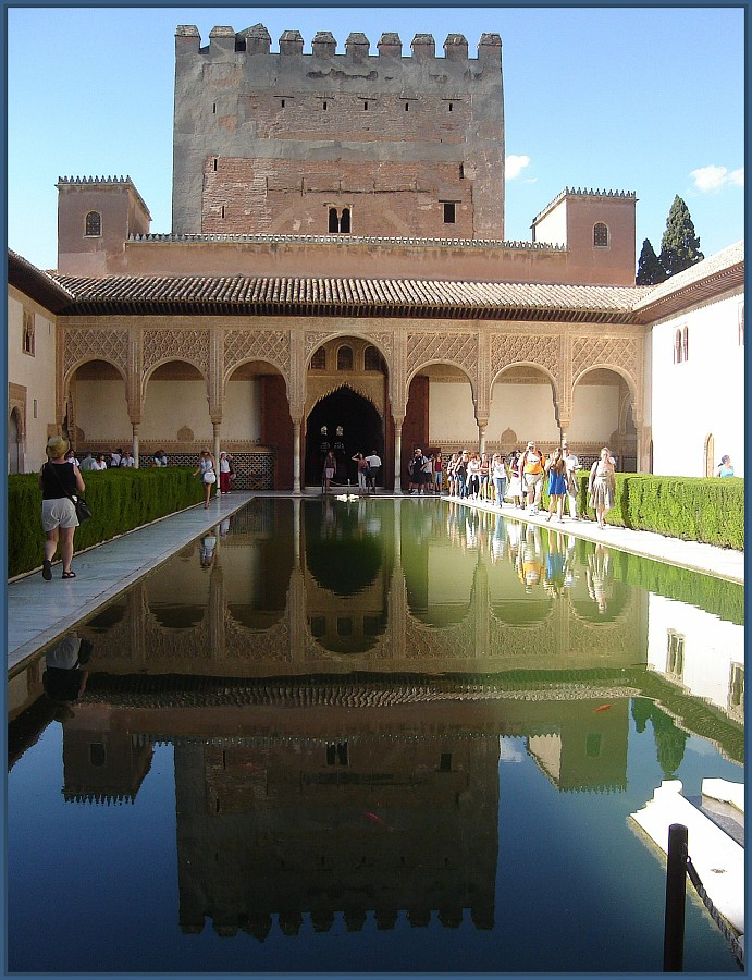 The Patio De Los Arrayanes  - or Courtyard of the Myrtles - The Alhambra