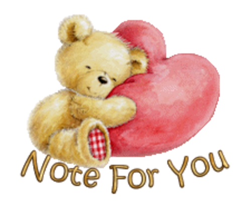 Note For You - ValentineBear2016