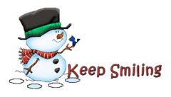 Keep Smiling - Snowman&Bird