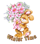 Winter Time - BunnyWithFlowers