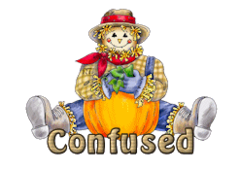 Confused - AutumnScarecrowSitting