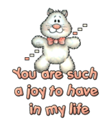 You are such a joy to have in my life - HuggingKitten NL16