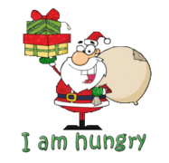 I am hungry - SantaDeliveringGifts