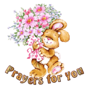 Prayers for You - BunnyWithFlowers