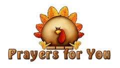 Prayers for You - ThanksgivingCuteTurkey