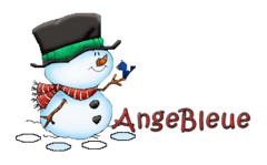 AngeBleue - Snowman&Bird