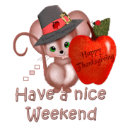 Have a nice WE - ThanksgivingMouse