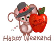 Happy Weekend - ThanksgivingMouse