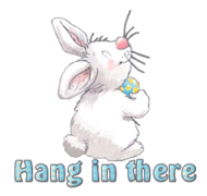 Hang in there - HippityHoppityBunny