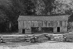 Barn - Black and White