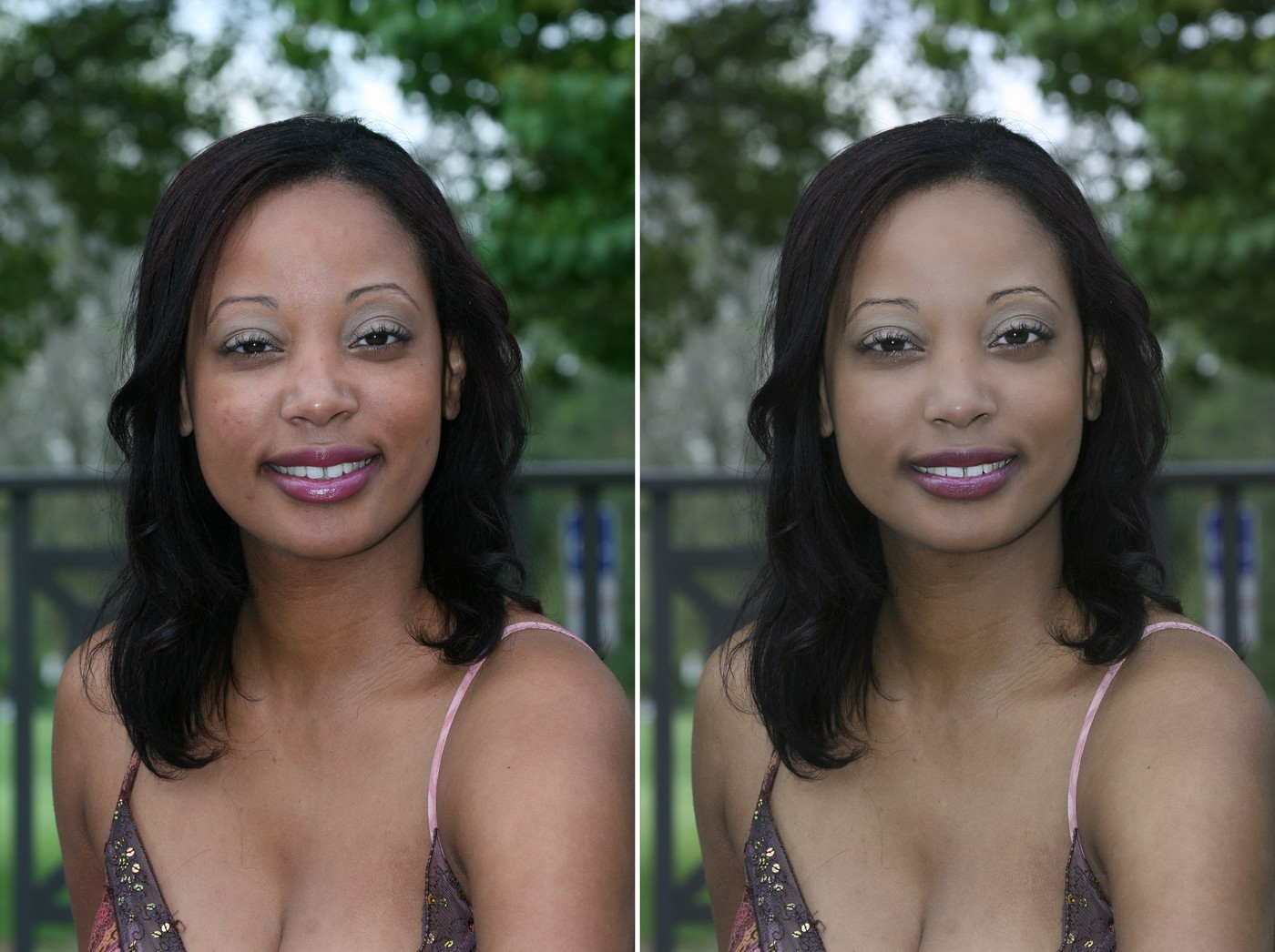 Ebony R With and Without Enhancement