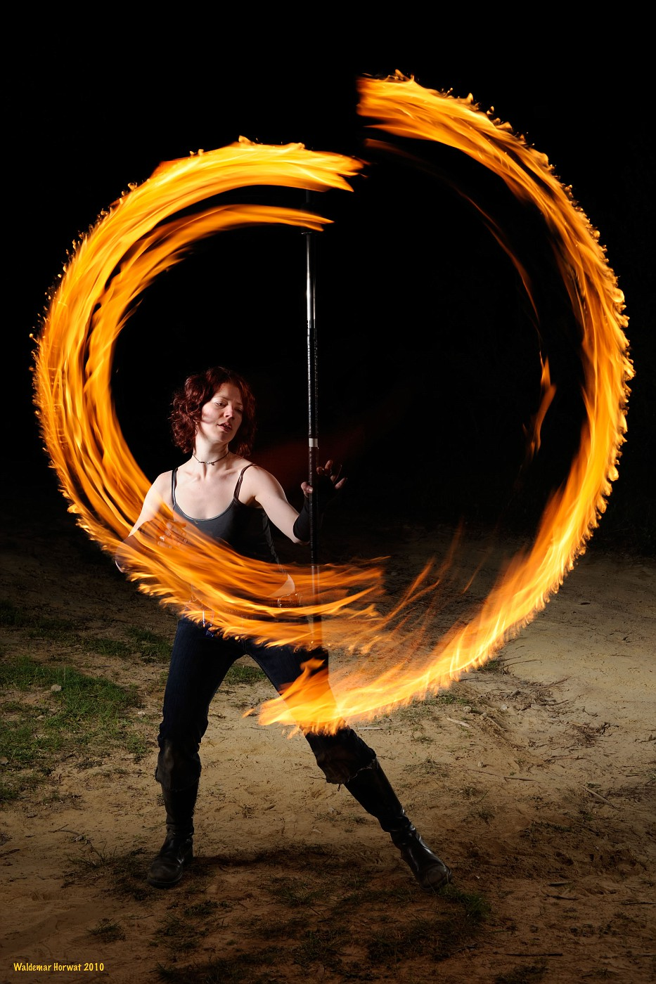Guiding the fire staff