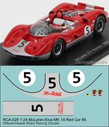 RCA-036 1-24 McLaren M1A #5 red-silver car, DKK 60,- / € 8,80 + postage