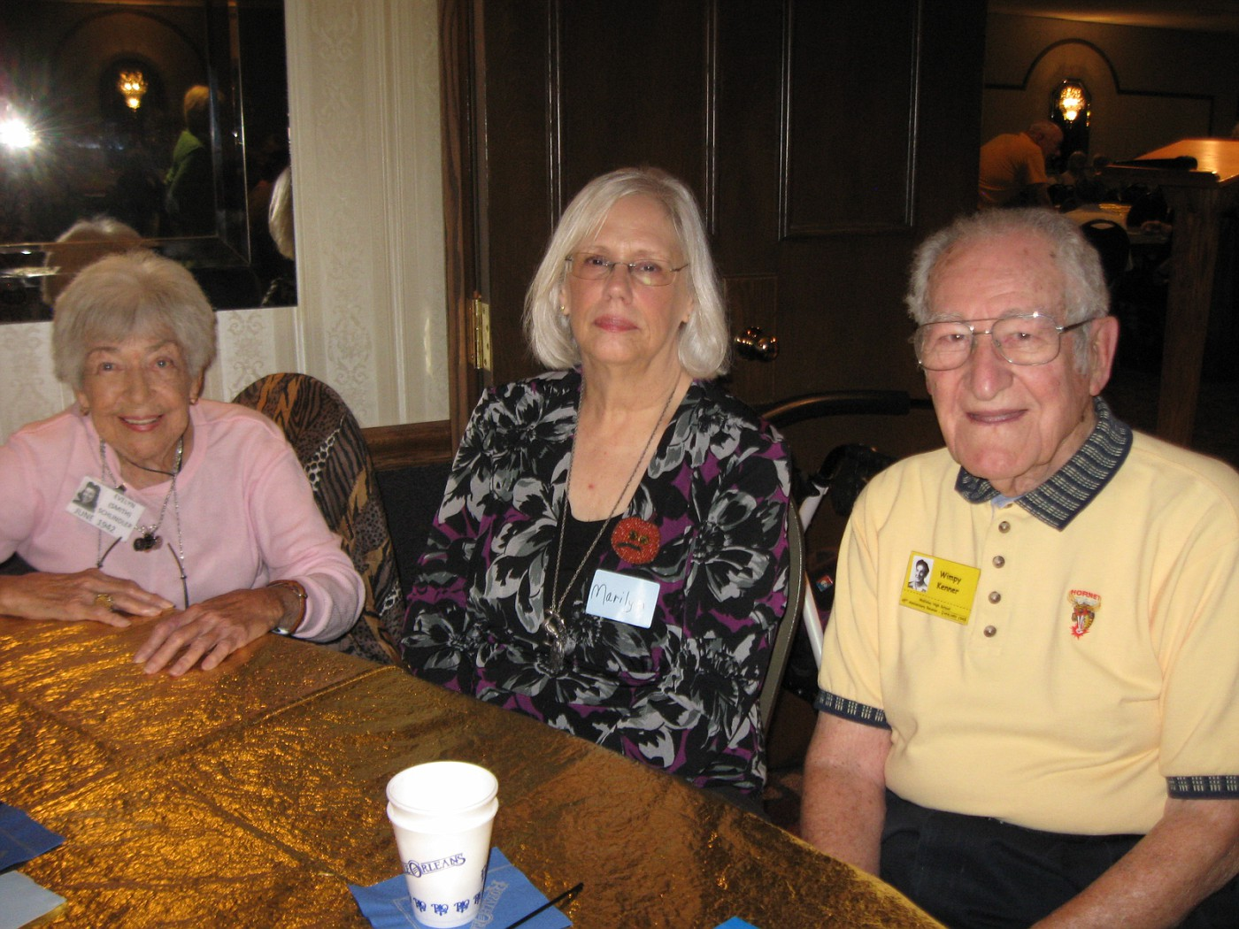 Evelyne Schindler, Marilyn Wallace, Wimpy Kenner