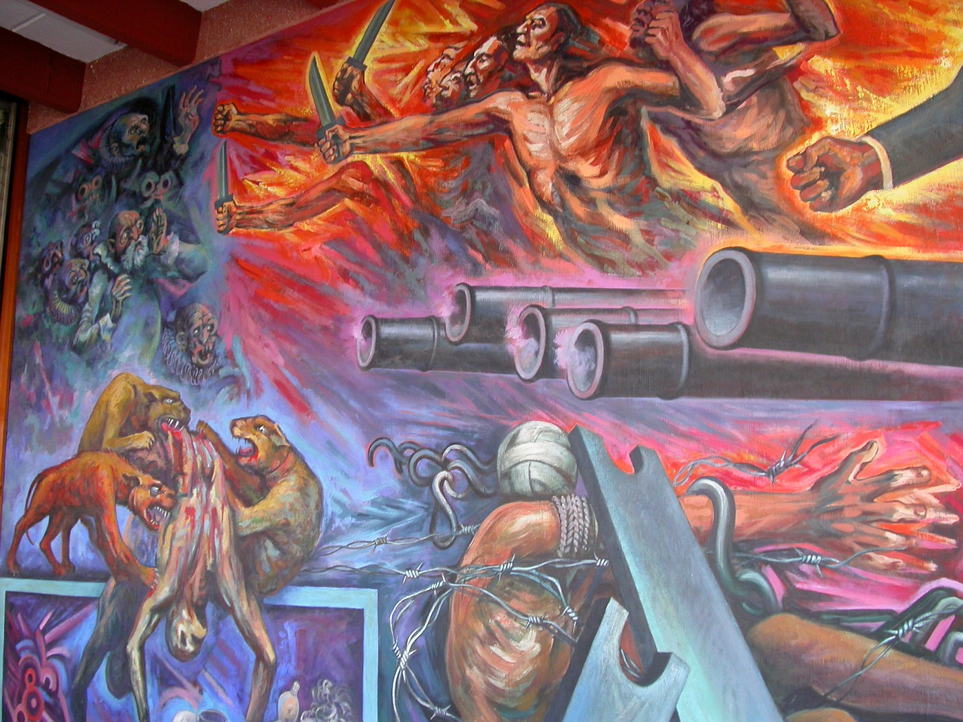 Soto's murals in the rear building