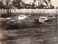 Old Huntsville Speedway 76 spinning is C A Smith X is Greer Cagle 11 Zeke Zahnd 13 Jud Merrelll & 1J Joe Massey