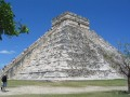 "The ""Rear Unfurbished"" walls of Chichen Itza, Yucatan Peninsula, Mexico.  Re-furbishers used stones and building material from the back two sides to repair and fix up the front two sides that tourists see when they enter the city."
