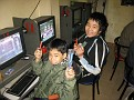 New Friends at an Internet cafe I found.  They all like to play the video games...  They liked the pens and toothbrushes '-)))