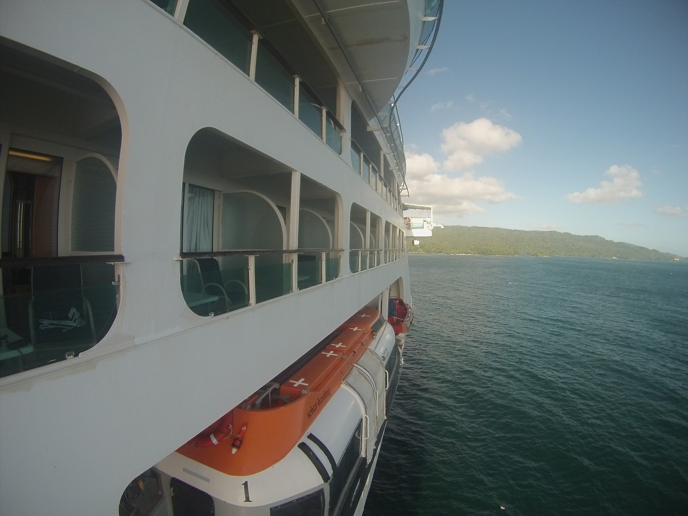 Exterior view of Balcony Cabin  Deck 7 FWD (STB)