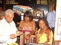 Yanick Etienne autographing  CD's at Casa Campestre, Ft. Lauderdale, Florida.