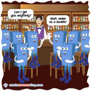 Eight Bytes Walk In A Bar - Weekly comic about web developers, software and browsers
