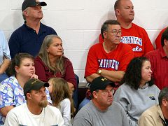 619 - Nancy Sexton and Ricky Lawson at a Basketball game.