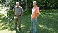 Paul Lay and Billy Austin checking my Grape Vines