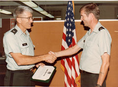 My boss, Col ?????? who just Reenlisted me, Ft Monroe, VA 1986