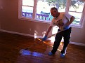 My son, Gary Jr. and I on the sanding and polyurethaning the floors of his rental property.  Lots of work but they came out great.