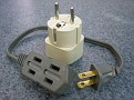 Europe Plug Adaptor needed for some parts of India with small USA extension cord to be able to plug in multiple items in case there is only one receptacle.