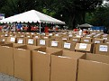 We transported 5000 Athletes Clothing and Stuff here to the Finish Area!!!  What a TASK!!!  But we did it!!!