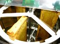The Process of Extracting Honey / Shallow Frames in Honey Extractor.