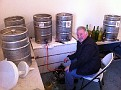 Eddie and I getting the Wine Ready for Thanksgiving!!!