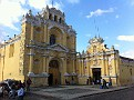 Antigua, Guatemala.  80's Sunny, friendly people. They speak Spanish and Indigenous Guatemalan Languages of which there are roughly 20.  Few speak any English.  They are Quiet, Hard Working, Respectful, Charming and Family Oriented People... Main Religion