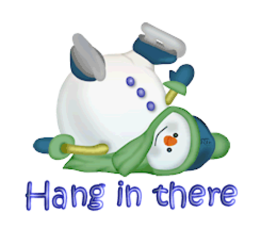 Hang in there - CuteSnowman1318