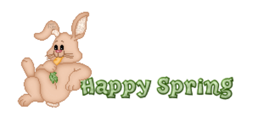 Happy Spring - BunnyWithCarrot