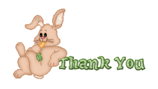 Thank You - BunnyWithCarrot