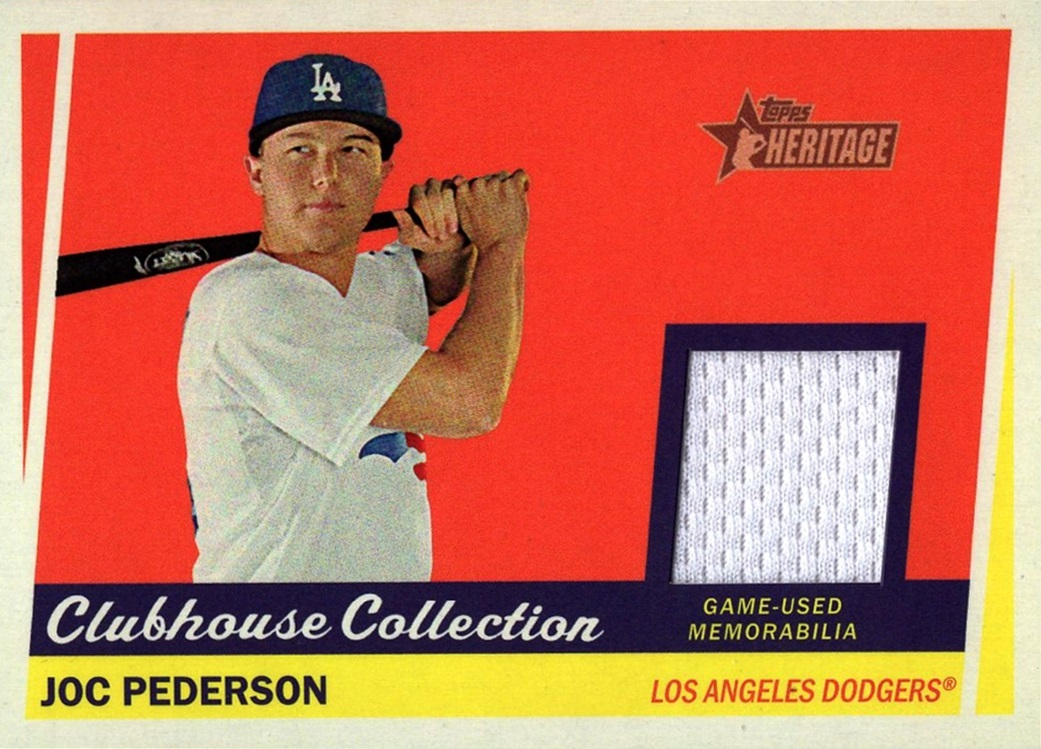 2016 Topps Heritage Clubhouse Collection Joc Pederson (1)