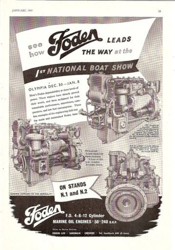 boat show marine oil engine range 1955