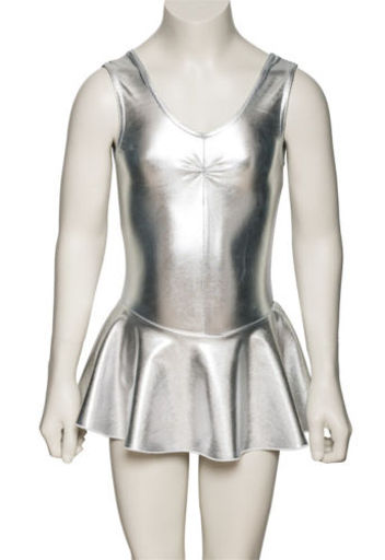 silver leotard dress