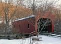 the covered bridge at the Whitney Waterfall area